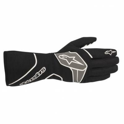 ALPINESTARS 3551020_12_L Перчатки для автоспорта TECH 1-RACE v2. FIA 8856-2018. чёрный/белый. р-р L