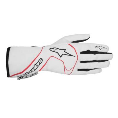 ALPINESTARS 3551016_231_S Перчатки (FIA) TECH 1 RACE, белый/красный/черный, р-р S