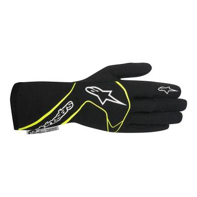 ALPINESTARS 3551017_155_L Перчатки для автоспорта TECH 1 RACE, FIA, чёрный/жёлтый, р-р L