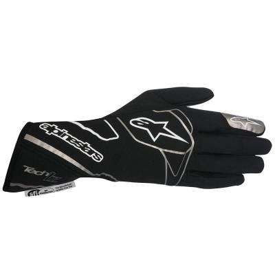 ALPINESTARS 3550012_12_S Перчатки для автоспорта TECH 1-Z, FIA, черный/белый, р-р S