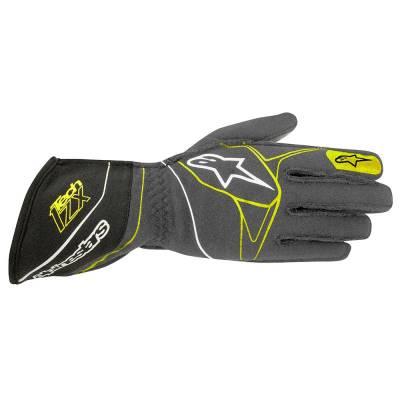 ALPINESTARS 3550117_1045_L Перчатки для автоспорта TECH 1-ZX, FIA, серый/чёрный/жёлтый, р-р L
