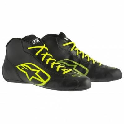 ALPINESTARS 2711515_155_7 Ботинки для картинга TECH 1-K START, черный/флюор.желтый, р-р 39 (7)
