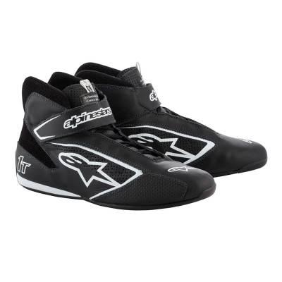 ALPINESTARS 2710019_12_10,5 Ботинки для автоспорта TECH-1 T, FIA, чёрный,белый, р-р 43,5