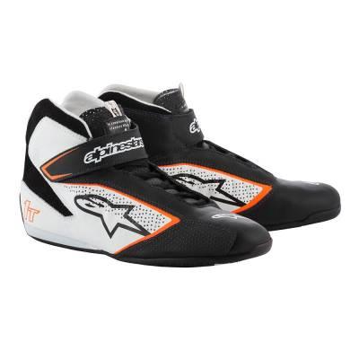 ALPINESTARS 2710019_1241_10 Ботинки для автоспорта TECH-1 T. FIA. чёрный/белый/оранжевый. р-р 43