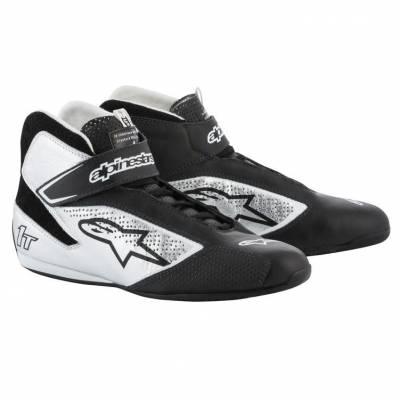 ALPINESTARS 2710019_119_6 Ботинки для автоспорта TECH-1 T. FIA. чёрный/серебристый. р-р 38