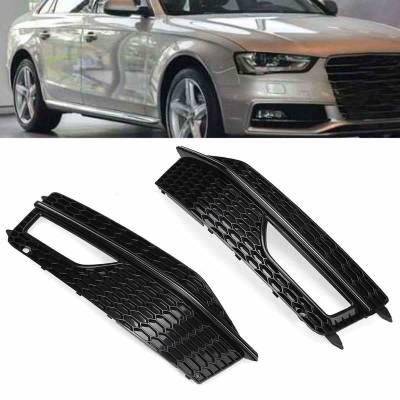Черные решетки противотуманок RS4-style для Audi A4 (B8.5) (12+)