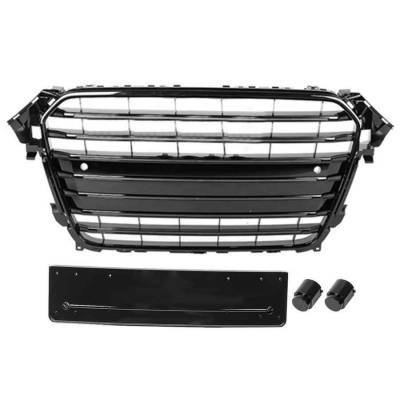 Черная решетка радиатора S4-style для Audi A4 (B8.5) (12+)