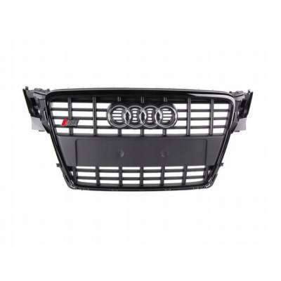 Черная решетка радиатора S4-style для Audi A4 (B8) (07-12)