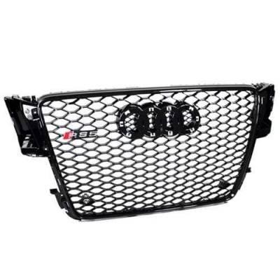 Черная решетка радиатора RS5-style для Audi A5 (B8) (дорестайл)