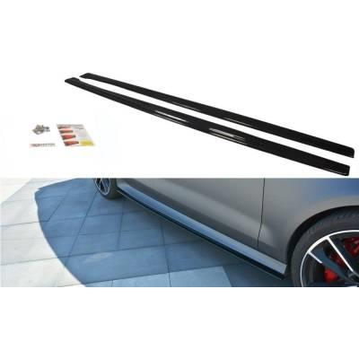 Карбоновые лезвия под пороги для Audi RS7 (С7)