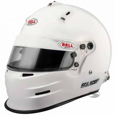BELL 1417021 Шлем для автоспорта закрытый GP3 SPORT, HANS, FIA8859, белый, SML  - 57-58 -