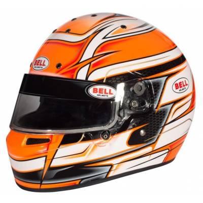 BELL 1311046 Шлем для картинга KC7-CMR VENOM ORANGE (CIK, CMR2016), оранжевый, р-р 59