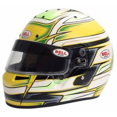 BELL 1311054 Шлем для картинга KC7-CMR VENOM YELLOW (CIK, CMR2016), жёлтый, р-р 57