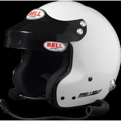 BELL 1426062 Шлем для автоспорта открытый MAG-1 RALLY, FIA8859, белый, р-р MED (58-59)