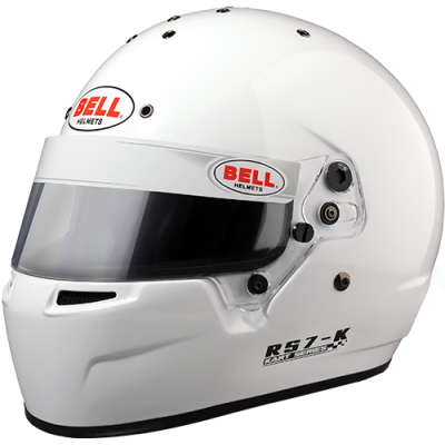 BELL 1310031 Шлем для картинга RS7-K, Snell K2015, белый, р-р SML  - 57-58 -