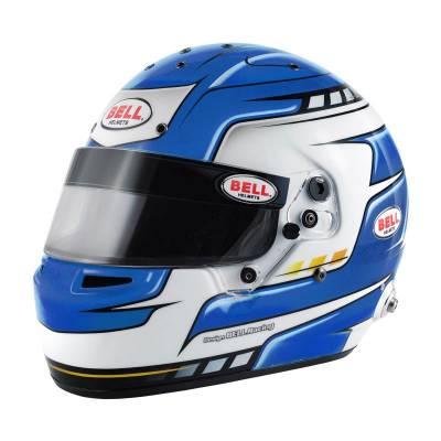 BELL 1310077 Шлем для автоспорта (FIA) RS7 PRO HANS FALCON BLUE, синий, р-р 60
