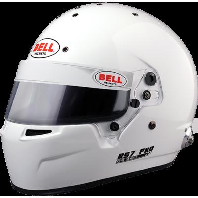 BELL 1310005 Шлем для автоспорта закрытый RS7 PRO HANS, FIA 8859, белый, р-р 58