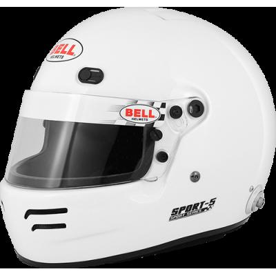 BELL 1418003 Шлем для автоспорта закрытый SPORT 5, FIA8859, белый. р-р LRG  - 60-61 -