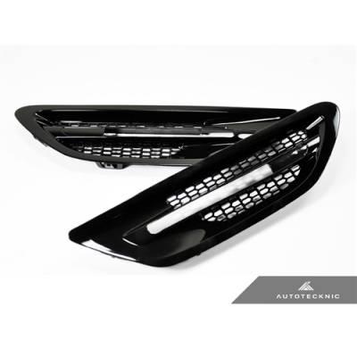 AutoTecknic  накладки на передние крылья для BMW M5 F10 (черные глянцевые/shadow line)