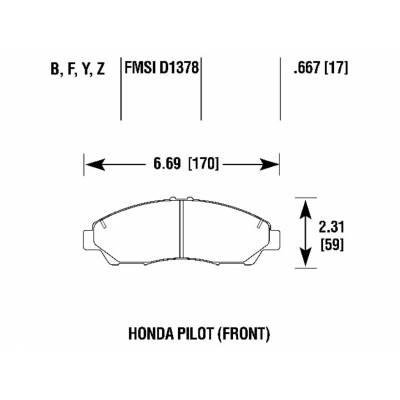 BRANNOR передние тормозные колодки для Honda Pilot/Acura MDX (mk2-3)/ZDX