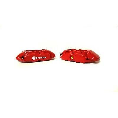 Комплект суппортов Brembo 4 поршня + адаптеры + армированные тормозные шланги (2 шт)