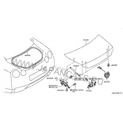 Крышка багажника для Nissan GTR R35 (оригинал)