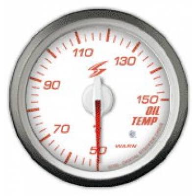 STRI Датчик температуры масла 60 мм (белый циферблат, красная подсветка)