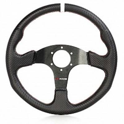 GP-RACE GP-VO301-CB Руль TC2000, искуственная кожа, диаметр 350 мм, вылет 0 мм, под карбон