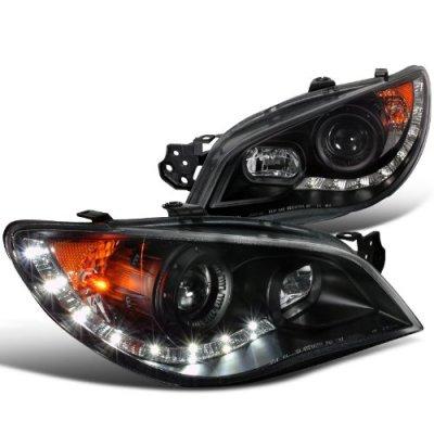 передние фары LED (черные) для Subaru Impreza WRX/STi (GDA/GDB) (2005-2007)