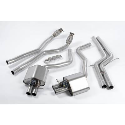 MILLTEK Выхлопная система кет-бек (средняя и задняя часть, без резонаторов) для Audi RS6/RS7 (2012+)