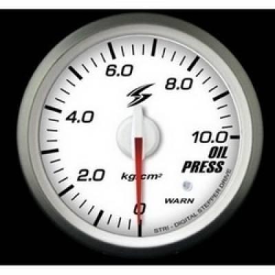 STRI Датчик давления масла 60 мм (белый циферблат, красная подсветка)