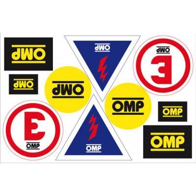 OMP X846 Набор наклеек условных обозначений имена, флаги, огнетушитель