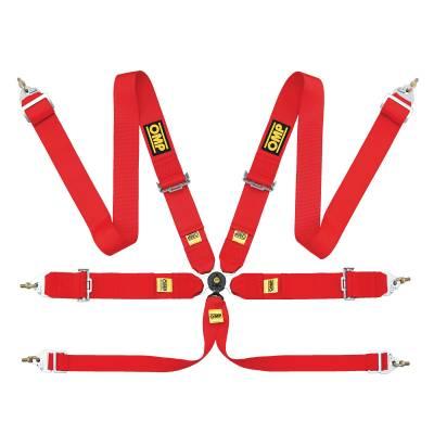 OMP DA802F61 Ременьремни безопасности FIA 802F, 6точ-332, регул.-ст. крючки, красный