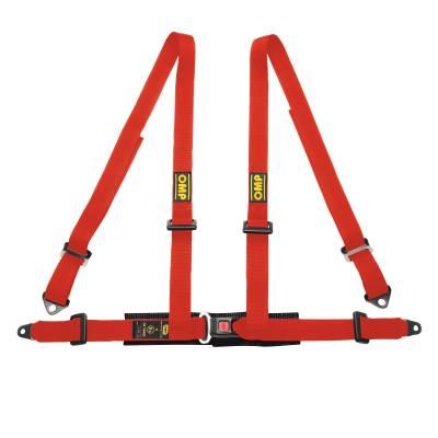OMP DA505061 Ременьремни безопасности ROAD 4, 4точ-2, болты, красный