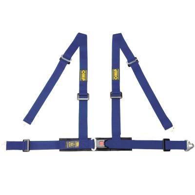 OMP DA508041 Ременьремни безопасности ROAD 4M, 4точ-32, крючки, синий