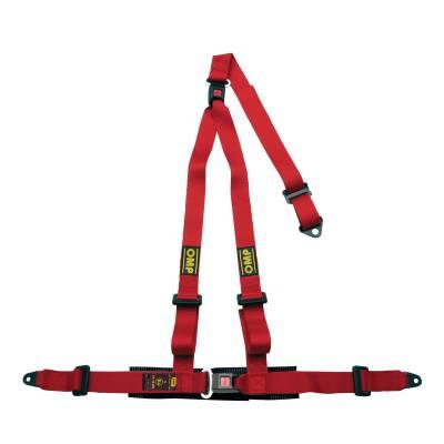 OMP DA509061 Ременьремни безопасности STRADA 3, 3точ-2, болты, красный