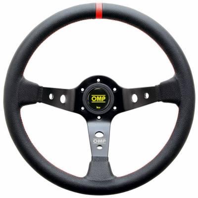 OMP OD1980NR Руль WRC, кожа, черный красная нить, диам.350мм, вылет 70мм