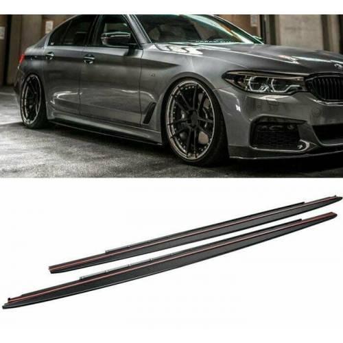 ABS накладки под пороги для BMW 5-series G30 M-performance (пластик)