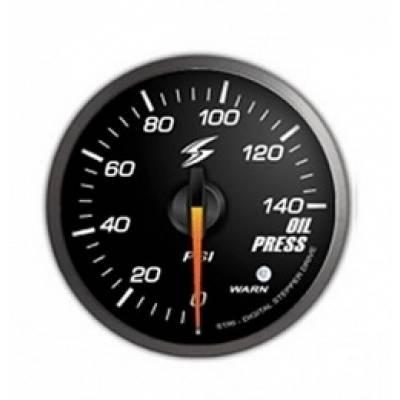 STRI  Датчик давления масла 60 мм (черный циферблат, белая подсветка)