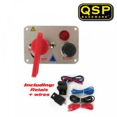 QSP QE6001 Панель зажигания, масса-старт-лампочка, 95x65 мм