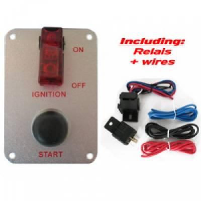 QSP QE6009 Панель зажигания (тумблер зажигания, кнопка старта), 95x65 мм