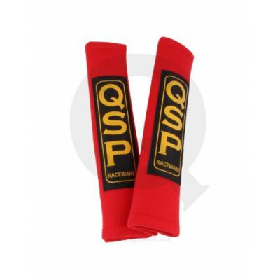QSP QR224 PAD Red Накладки на ремни безопасности 2, красные