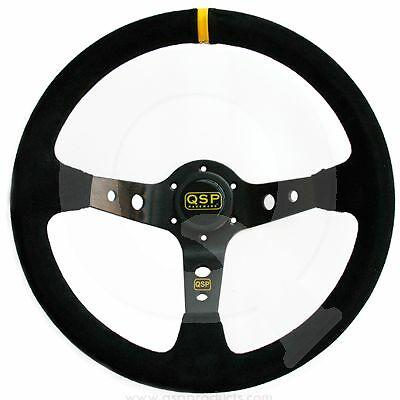 QSP QS.S90Z3 Руль, замша, черный, диаметр 350мм, вылет 90мм