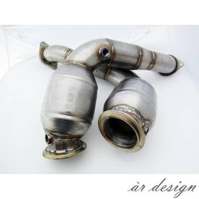 AR DESIGN  Приемные трубы с спорт катализаторами (Race) для BMW M3/M4 (F80/F82)