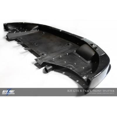 RevoZport Передний сплиттер с обдувом тормозов для Nissan R35 GTR Mk.1 карбон
