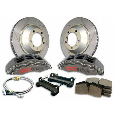 StopTech  передняя  6-поршневая Тормозная Система  для BMW X5/X6 F15/F16/E70/E71 (серебристые, 380x32мм)