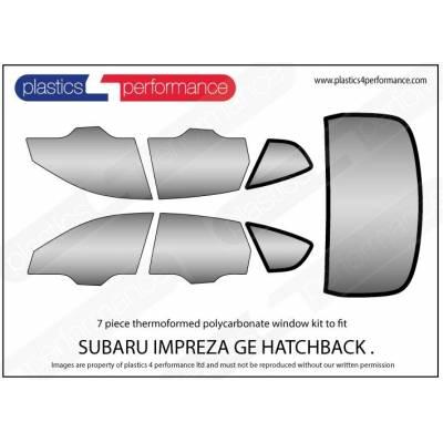 Plastics 4 Performance Комплект пластиковых стекол для Subaru Impreza GRB  (7 PC KIT + 2 SLIDERS) (2008-2011)