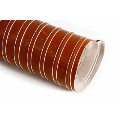 Воздуховод силиконовый, диаметр 51mm, до +255°С, цена за 1м, Thermal Division TDAD151B черный