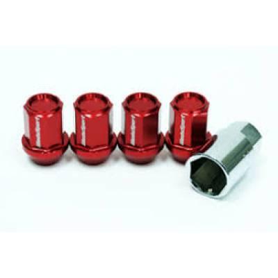 Tpi гайки-секретки закрытые 33мм M12X1.5 (красные) (упаковка 4шт)