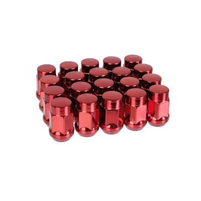 Tpi колесные гайки закрытые конус  (35мм) M12X1.5  (красные) (упаковка 20шт)